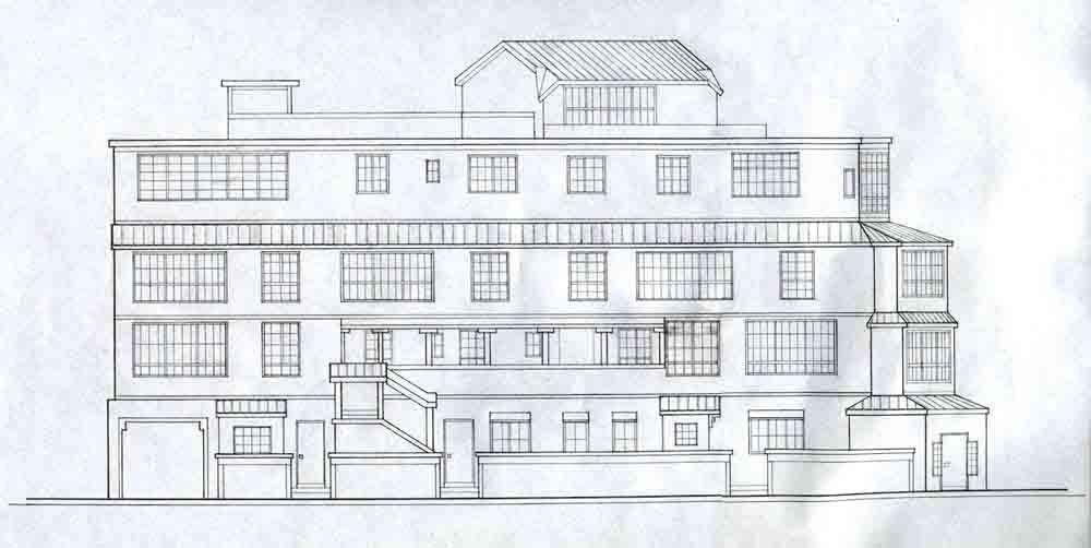 Apartment Building Drawing drawings